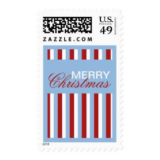 Christmas Stripes blue Stamp
