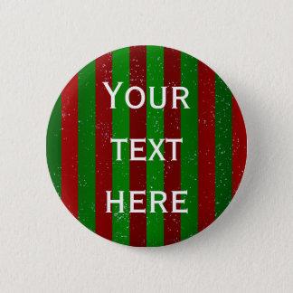 Christmas Stripes Button