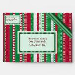 Christmas Stripes Envelopes