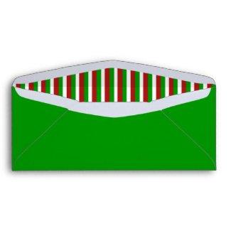 Christmas Stripes green #10 Envelope envelope
