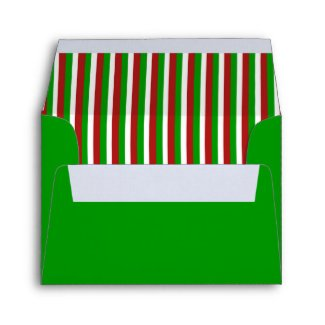 Christmas Stripes green A2 Envelope envelope