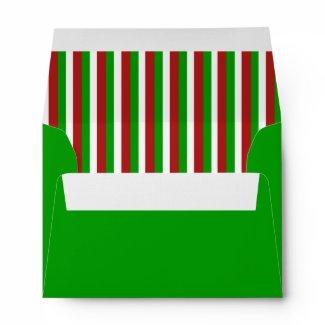 Christmas Stripes green A6 Envelope envelope
