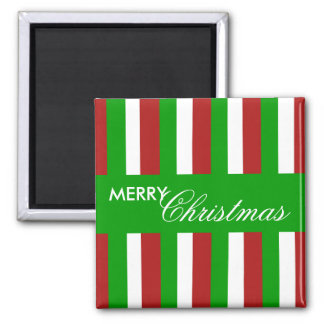 Christmas Stripes green Magnet