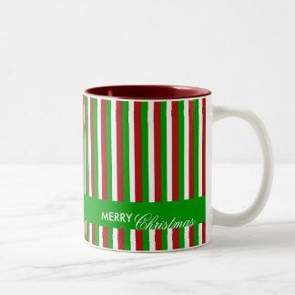 Christmas Stripes green Mug