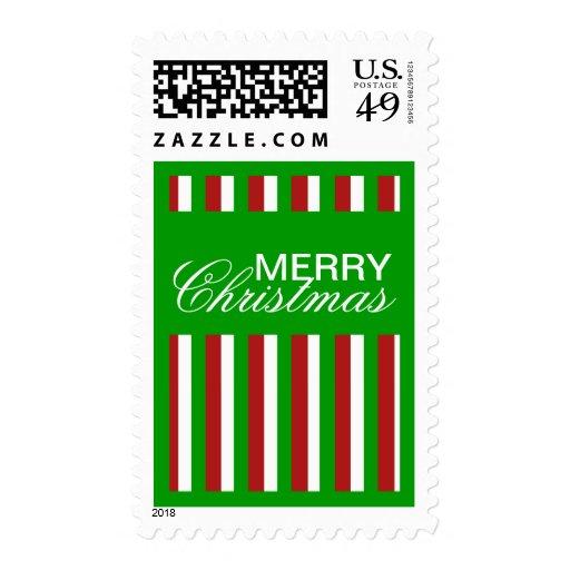 Christmas Stripes green Stamp