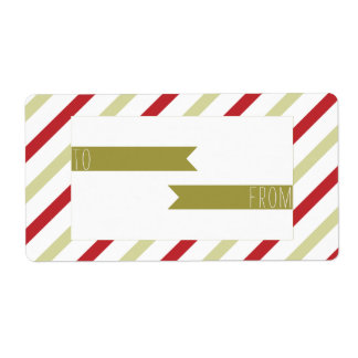 Christmas Stripes - Holiday Gift Tag - Label - Sti