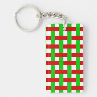 Christmas Stripes. Keychain