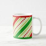 Christmas stripes mug