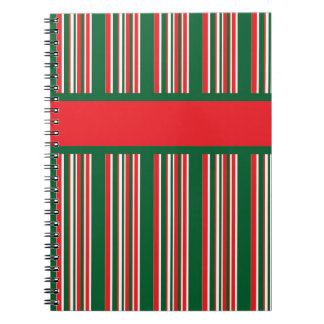 Christmas Stripes Notebook