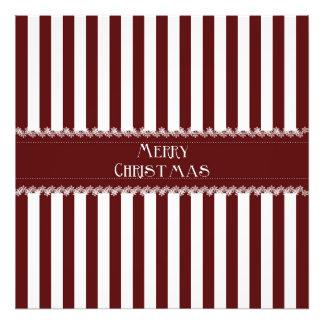Christmas Stripes Art Photo