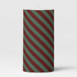 Christmas Stripes Pillar Candle