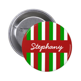 Christmas Stripes red Button