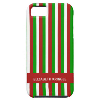 Christmas Stripes red Case-Mate Vibe iPhone 5 Case