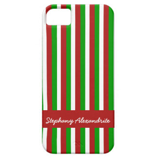 Christmas Stripes red iPhone 5 Barely There iPhone SE/5/5s Case