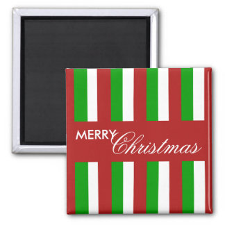 Christmas Stripes red Magnet