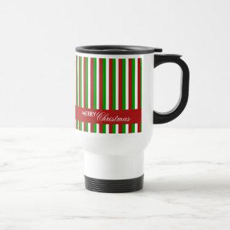 Christmas Stripes red Travel Mug