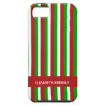 Christmas Stripes red Vibe iPhone 5 Case