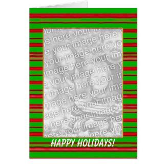 Christmas Stripes (tall photo frame) Card