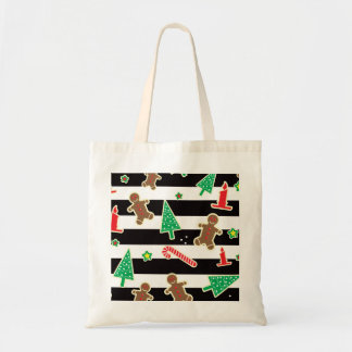Christmas Stripes Tote Bag