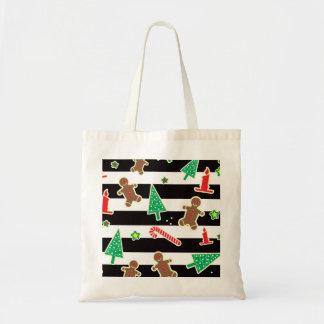 Christmas Stripes Tote Bag