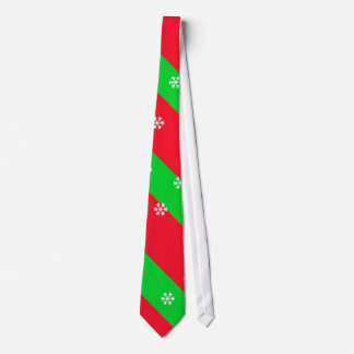 Christmas Stripes with Snowflakes Neck Tie