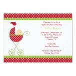 Christmas Stroller Baby Shower Invitations