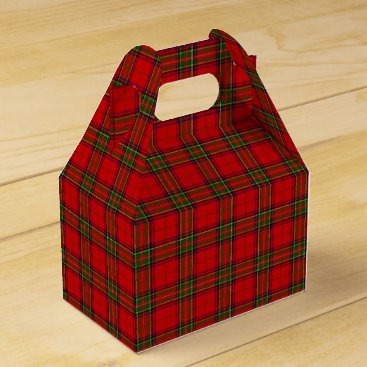 Aqua Christmas Stuart Tartan Favor Box