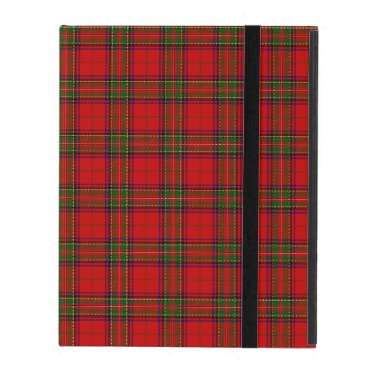 McTiffany Tiffany Aqua Christmas Stuart Tartan iPad Cover
