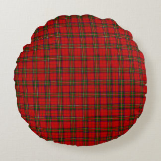 Christmas Stuart Tartan Round Pillow