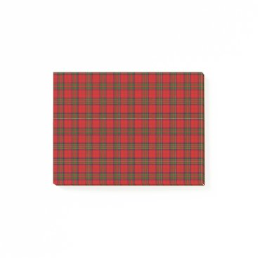Aqua Christmas Stuart Tartan Post-it Notes