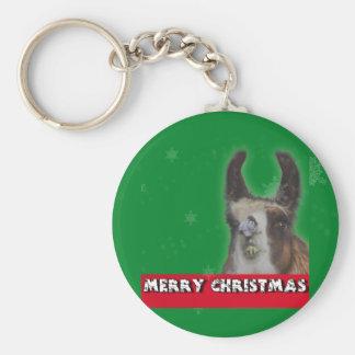 Christmas Stud Llama Happy New Year Keychain