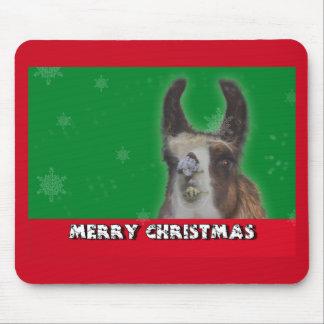 Christmas Stud Llama Happy New Year Mouse Pad