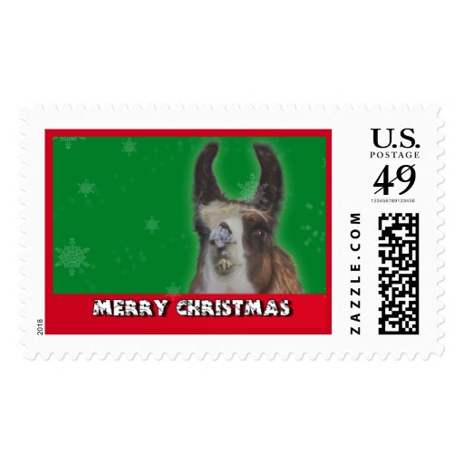 Christmas Stud Llama Happy New Year Postage