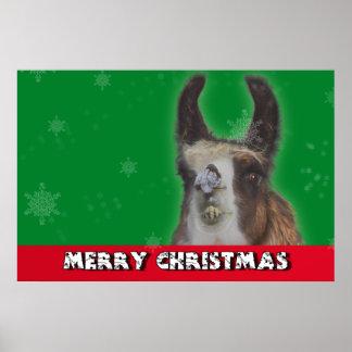 Christmas Stud Llama Happy New Year Print