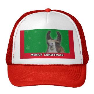 Christmas Stud Llama Happy New Year Trucker Hats