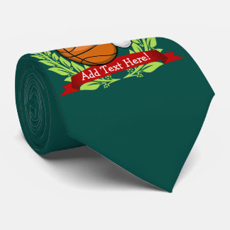 Christmas Style Basketball Neck Tie