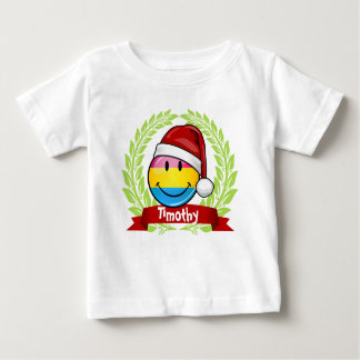 Christmas Style Pansexual Pride Flag. Baby T-Shirt