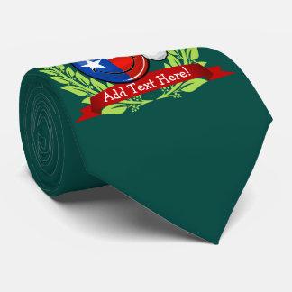 Christmas Style Smiling Texas flag Tie