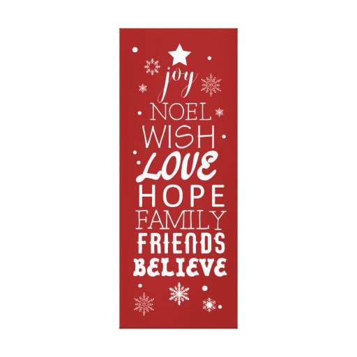 Christmas Subway Art Love Friends Family Canvas Print