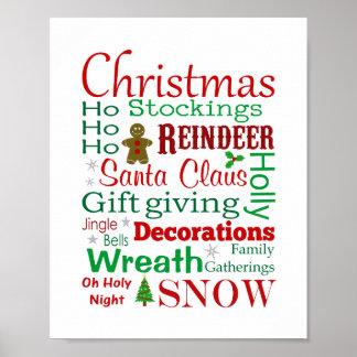 Christmas Subway Style Print