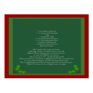 Christmas Sugar Cookie Recipe Postcard