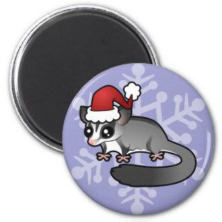 Christmas Sugar Glider 2 Inch Round Magnet