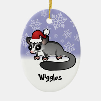 Christmas Sugar Glider (add your pets name) Ceramic Ornament
