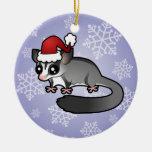 Christmas Sugar Glider Ceramic Ornament