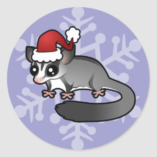 Christmas Sugar Glider Classic Round Sticker