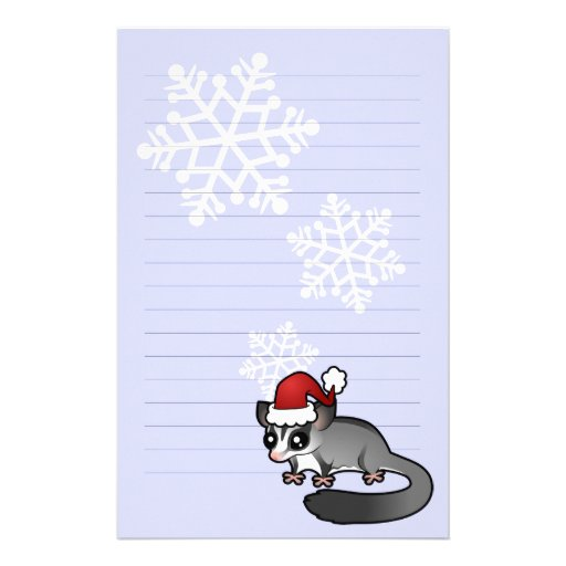Christmas Sugar Glider Stationery