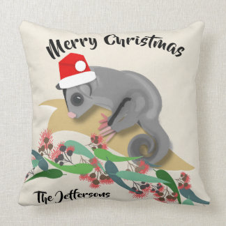 Christmas Sugar Glider Throw Pillow