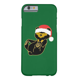 Christmas Sun Bear with Red Santa Hat Barely There iPhone 6 Case
