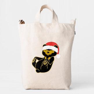 Christmas Sun Bear with Red Santa Hat Duck Bag