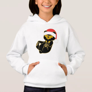 Christmas Sun Bear with Red Santa Hat Hoodie